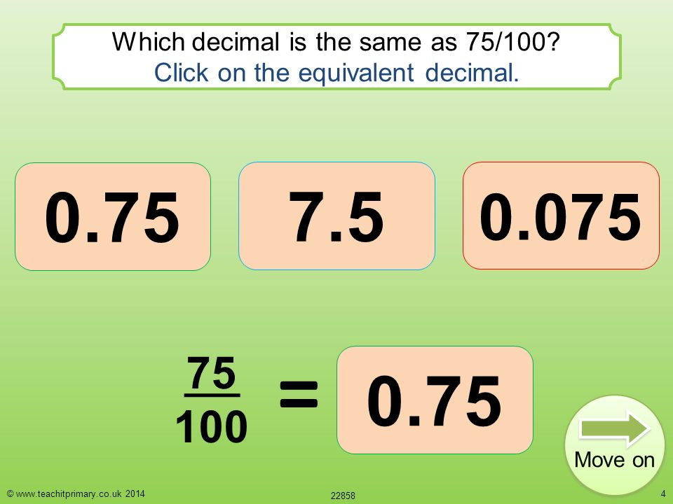 Fraction decimal switch Decimals and fractions are just different ...