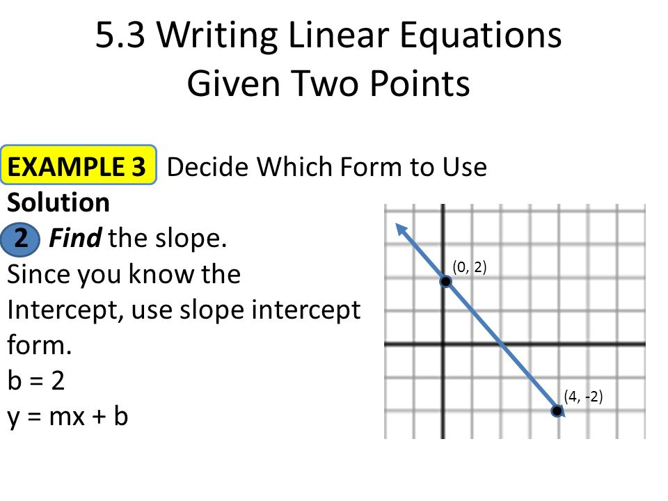 Warm up percents and fractions write the percent as a fraction in 53 writing linear equations given two points example 3 decide which form to use solution 1 ccuart Images
