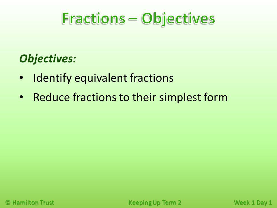 week 1 objectives