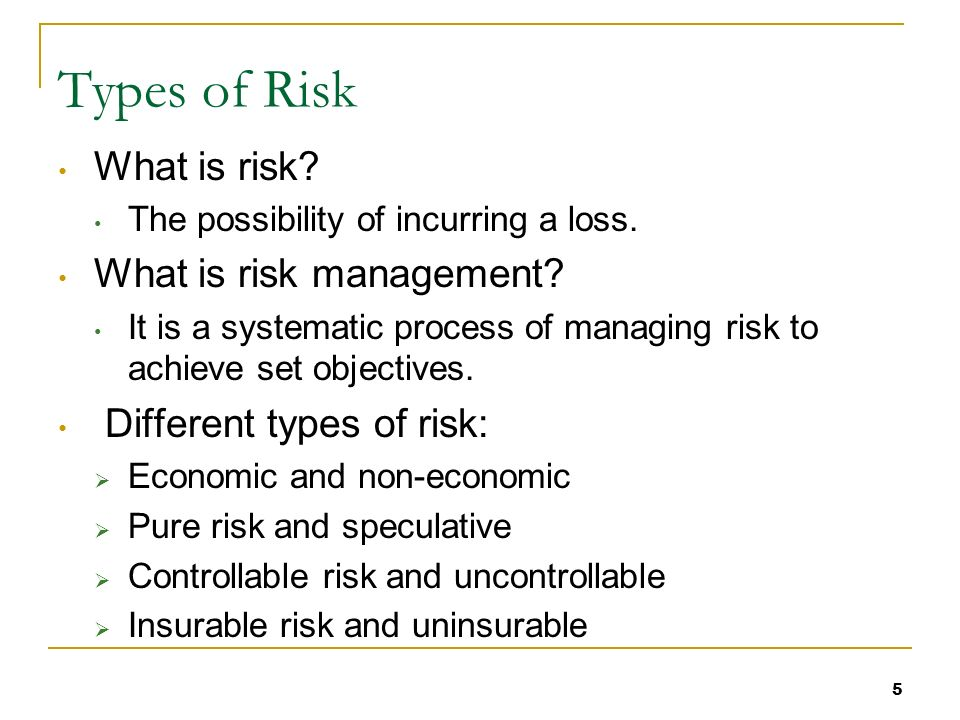 Essential Standard Understand Business Credit And Risk - Types of risk management