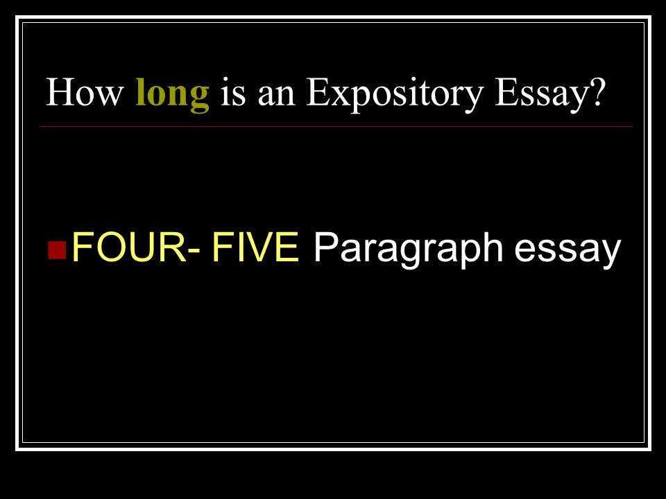 How Long Are Essays