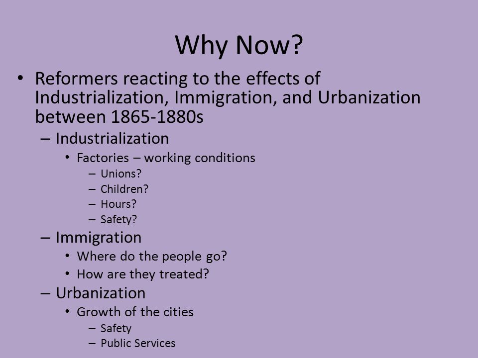 how industrialization and urbanization at the