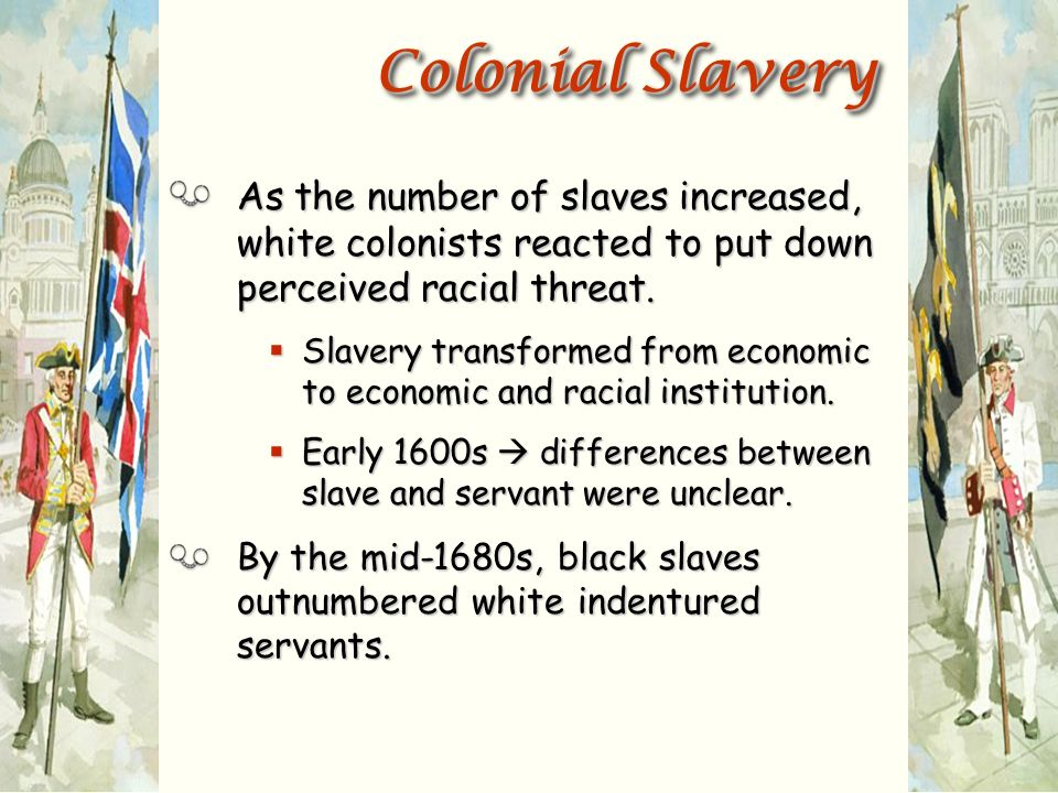 differences between indentured servants and slaves Lesson 2 –students will learn the similarities and difference between indentured servants and slaves in colonial america using a venn diagram.