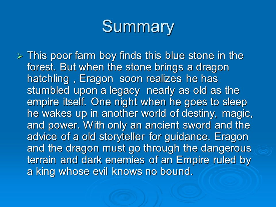 What is a good and easy essay question for the book Eragon? written by christopher paolini!?