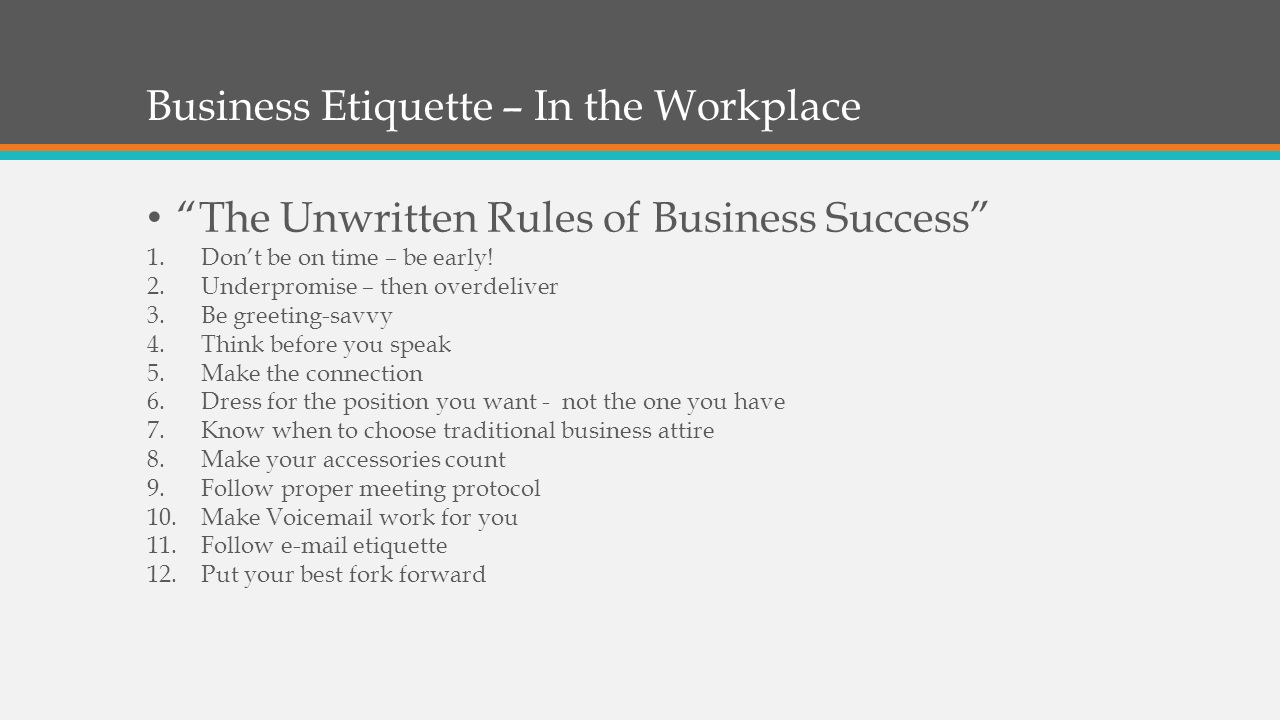 Note to change the image on this slide select the picture and 7 business etiquette kristyandbryce Choice Image