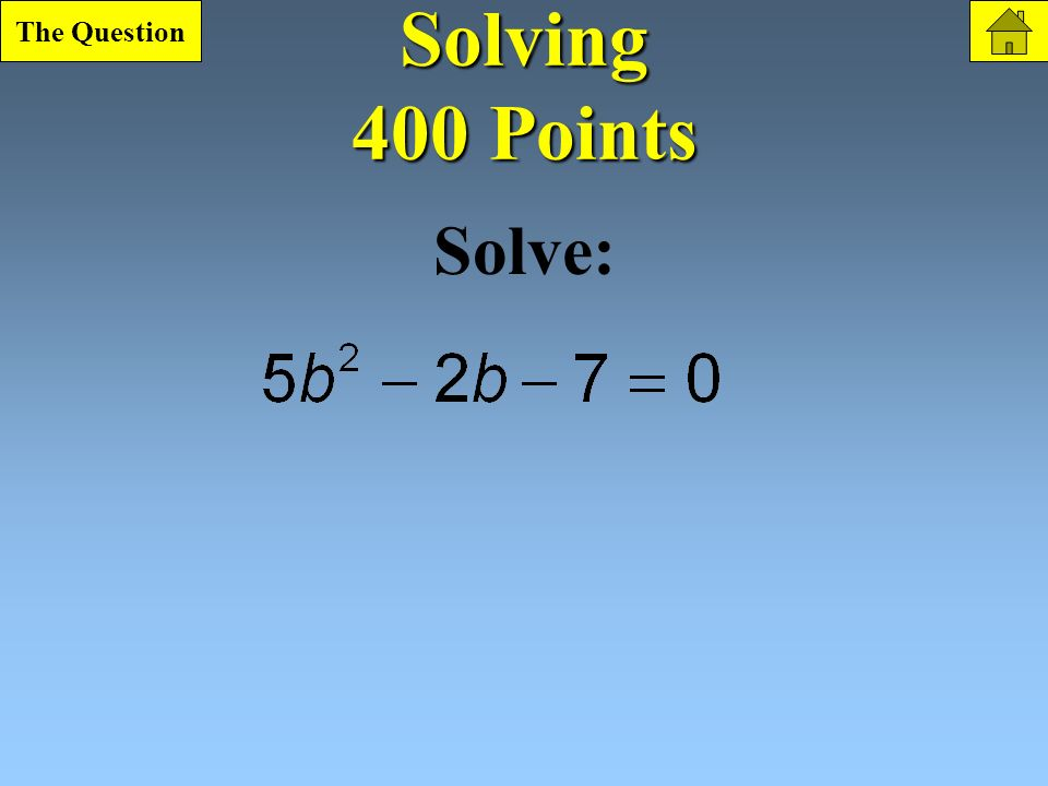 Solving 300 Point Question What is