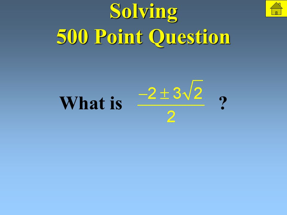 Solving 500 Points Solve: The Question