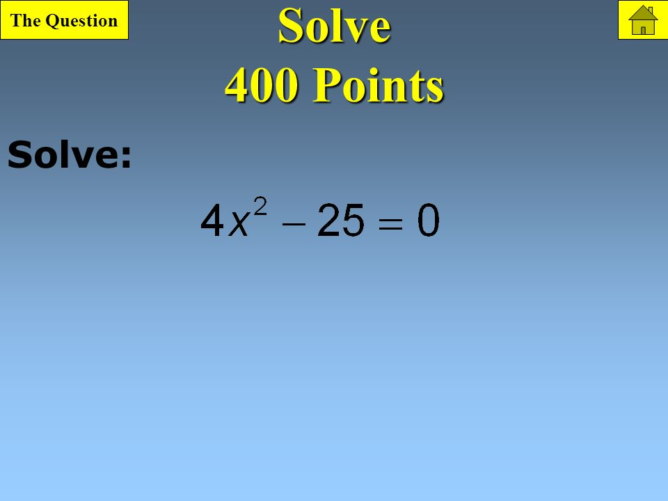 Vertical Motion 300 Point Question What is
