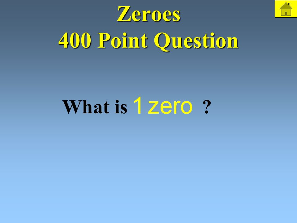 Zeroes 400 Points How many zeroes does the following function have The Question