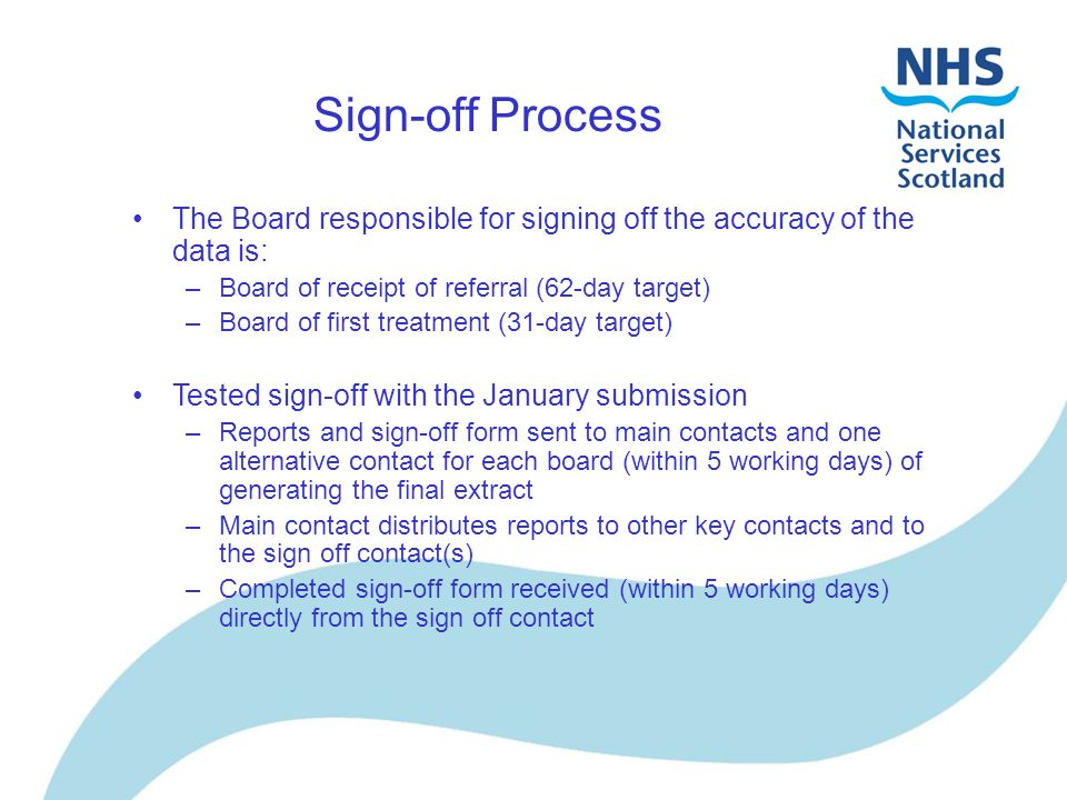 Submission, Reporting & Sign-Off Process Kirsty Anderson Principal