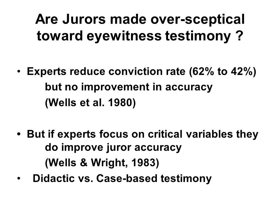 Graham Davies Legal Psychology Week 6 Expert Evidence on ...