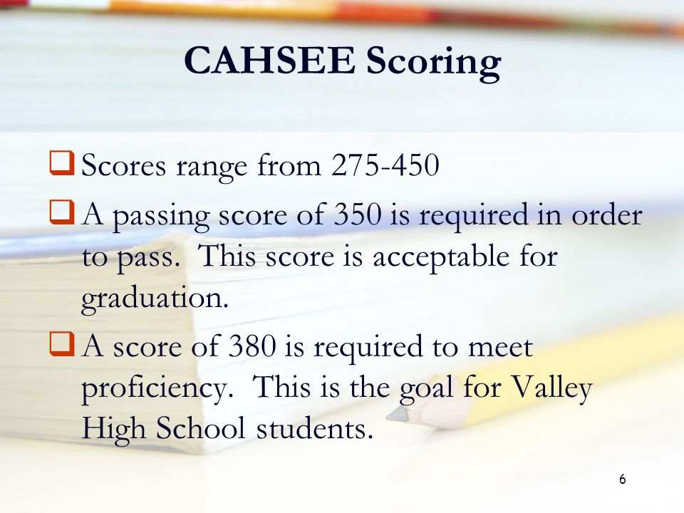 Can i get a 1 on the English CAHSEE essay and pass?
