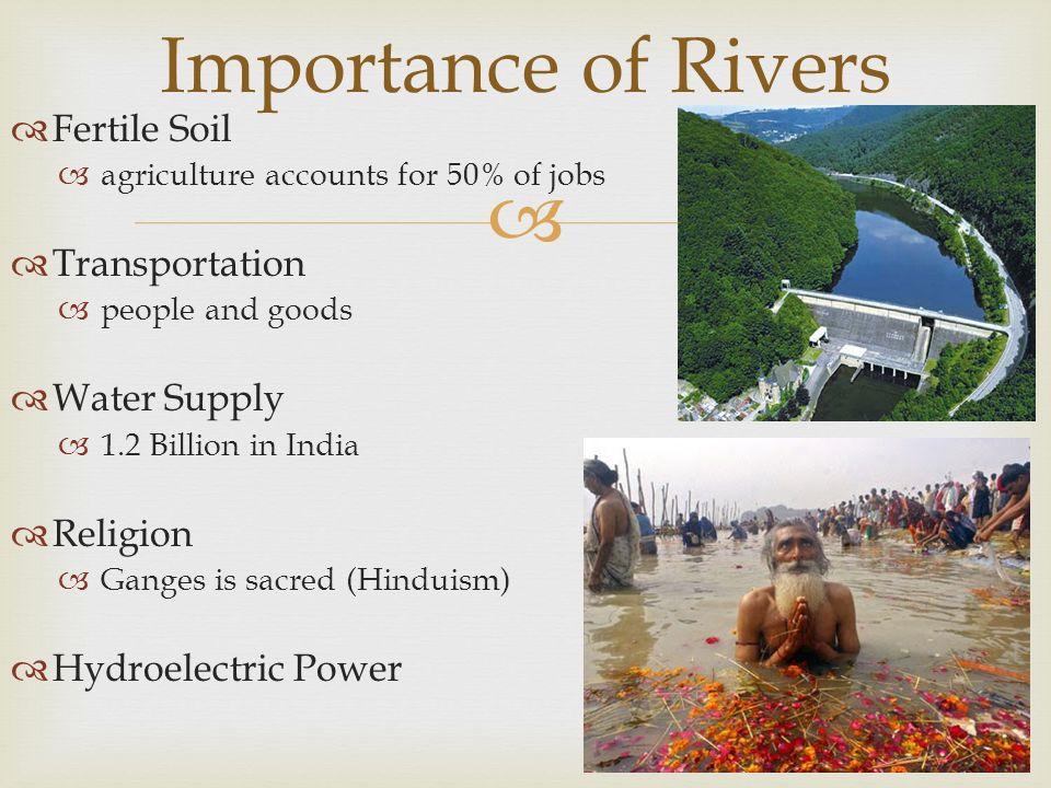 IndiaNepalSri LankaPakistan BhutanAfghanistan BangladeshMaldives - Importance of rivers