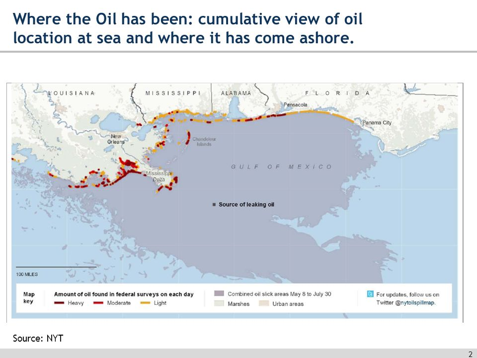 Economic Impact Of The Gulf Oil Spill Mike Chriszt August Ppt - Map of oil spills in the us