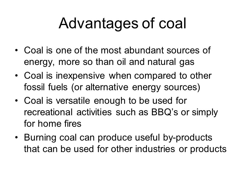 Coal. What is coal Coal deposits come from many epochs, but the ...