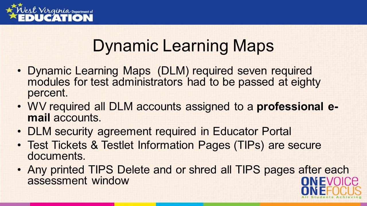test security and alternate assessments melissa gholson west  -  dynamic learning maps