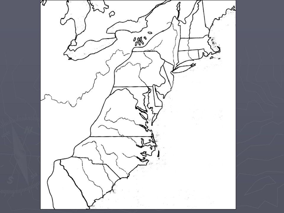 Founding of America Unit 2 Ms Rybak Founding of America Map of
