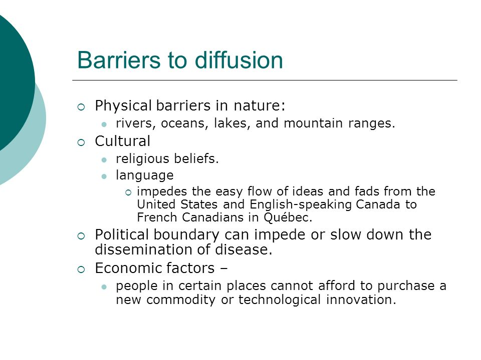 Barriers To Diffusion Physical Barriers In Nature Rivers - Religious diffusion maps us