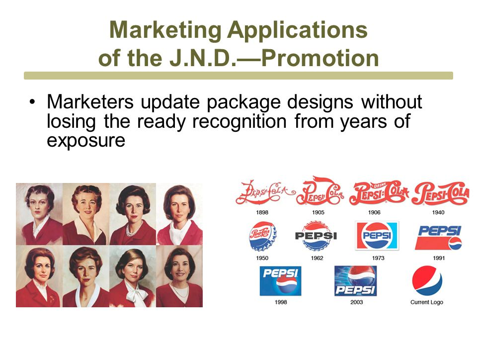 Marketing Applications of the J.N.D.—Promotion Marketers update package designs without losing the ready recognition from years of exposure