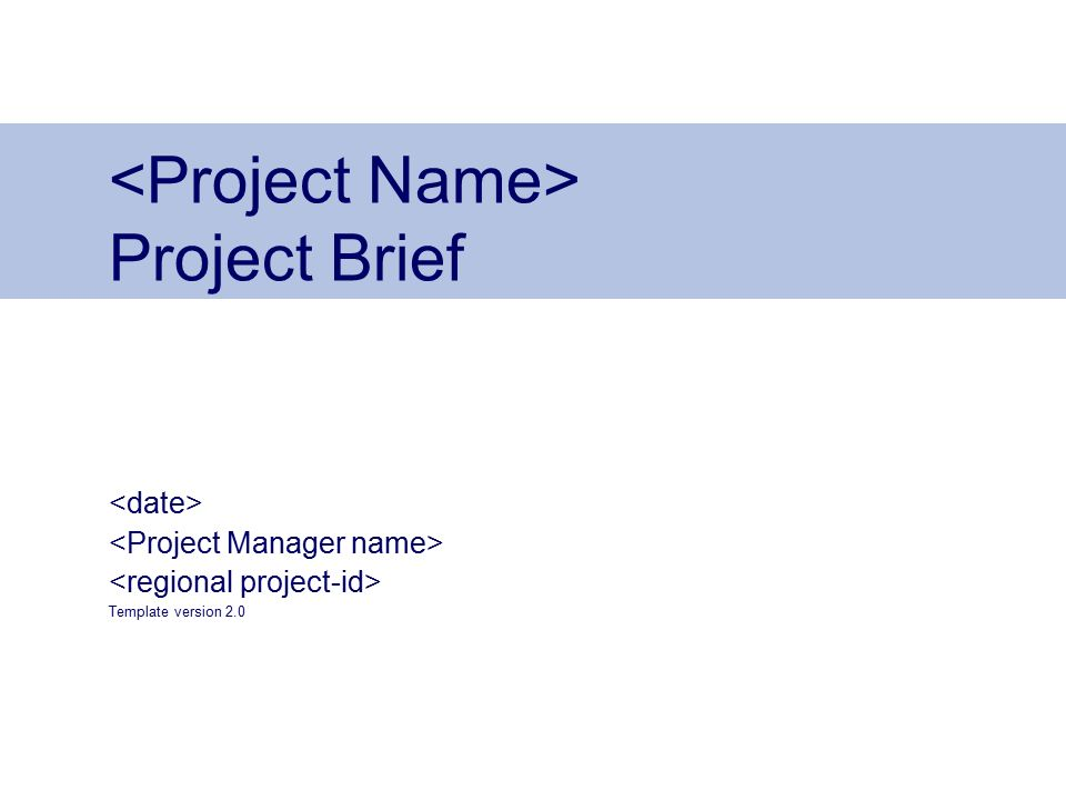 Do Not Put Content On The Brand Signature Area Project Brief