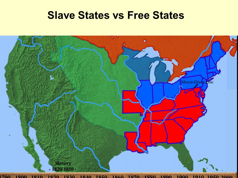 Growth Of A Nation Nations Slave States Vs Free States As - Map of us slave states