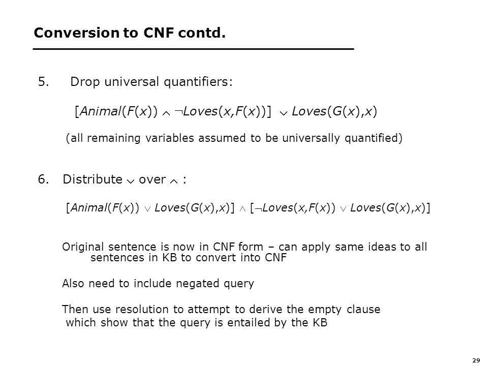 29 Conversion to CNF contd.