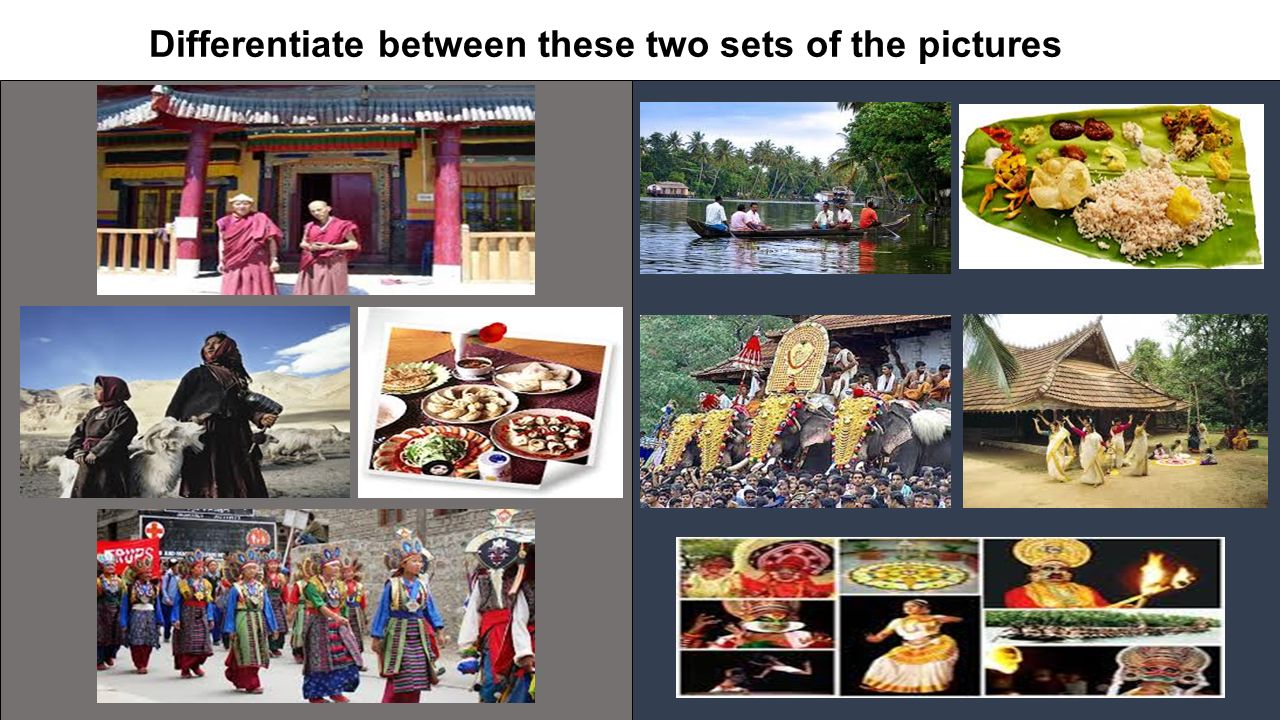 Differentiate between these two sets of the pictures