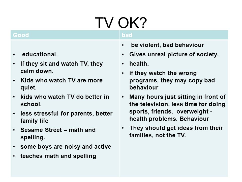 essay on advantages and disadvantages of television for kids