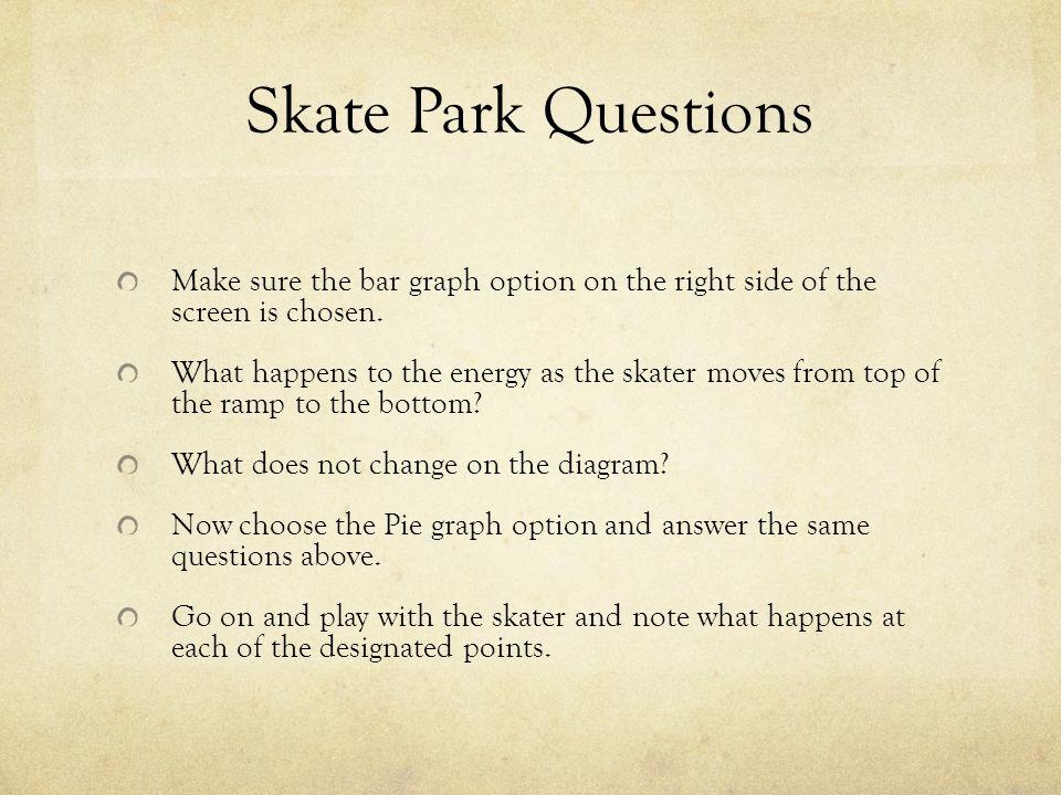 Energy Skate Park Lab Worksheet - Worksheets