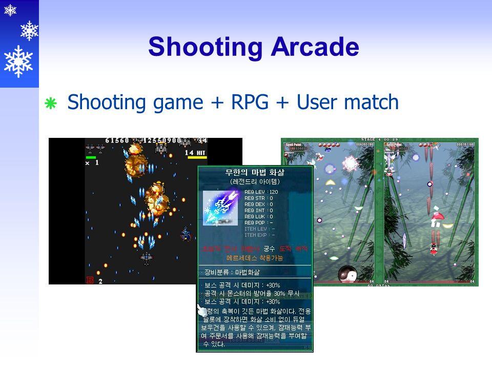 Shooting Arcade  Shooting game + RPG + User match