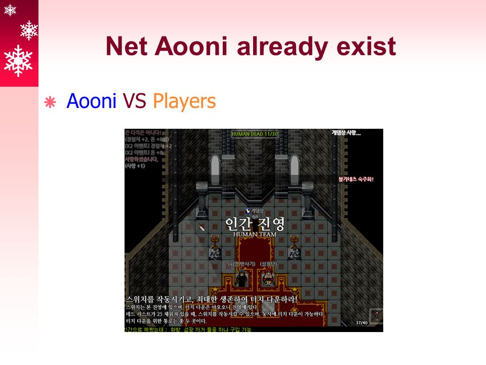 Net Aooni already exist  Aooni VS Players