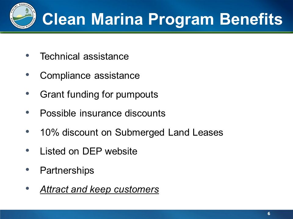 dep stormwater brochure office of sustainable initiatives florida clean marina program