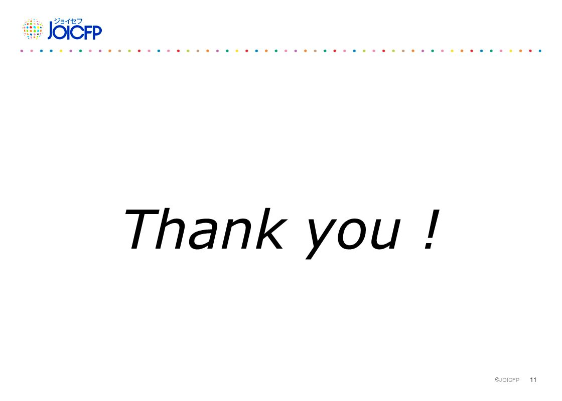 11  JOICFP Thank you !