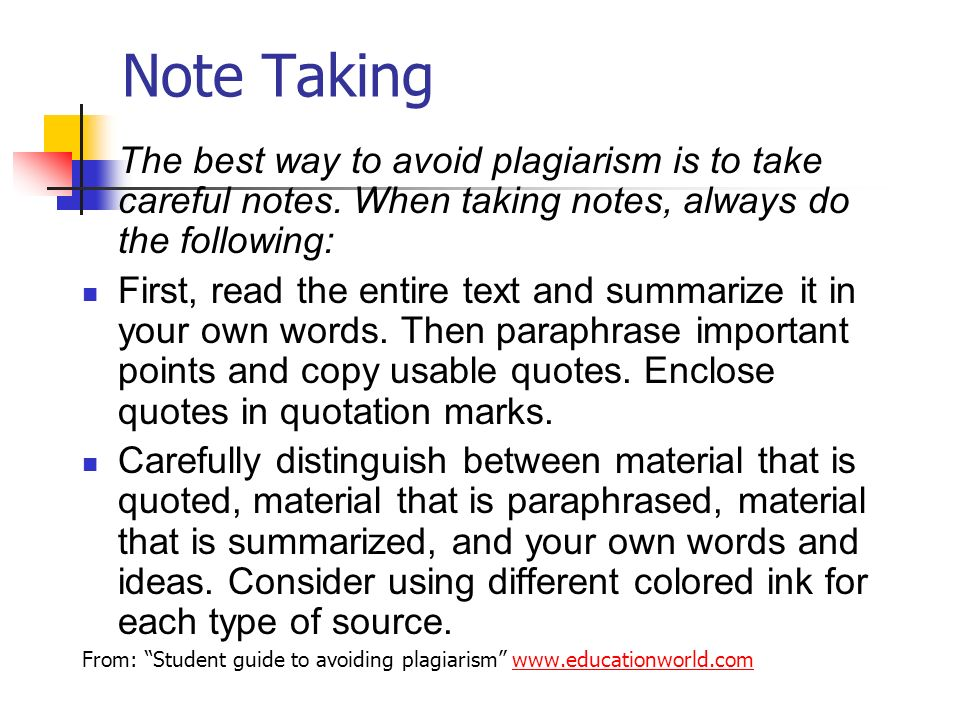 Help writing an essay on three ways to avoid plagiarism