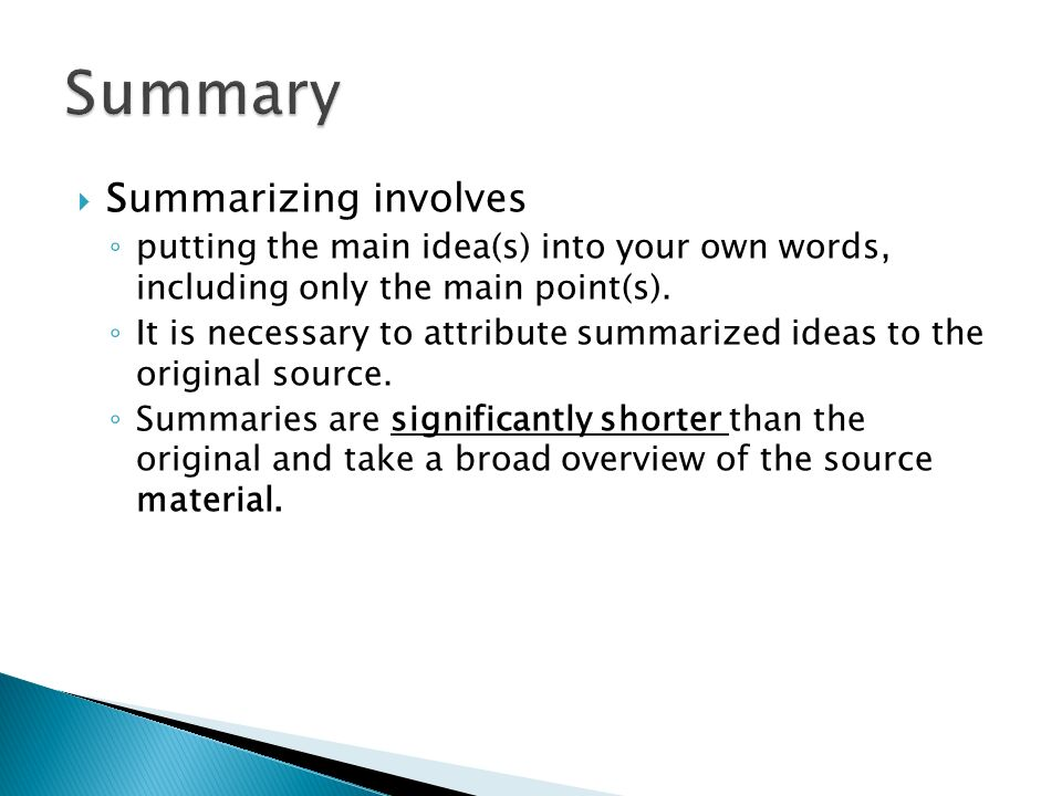 Summary.  Plagiarism Plagiarism ◦ Watch the video on plagiarism ...
