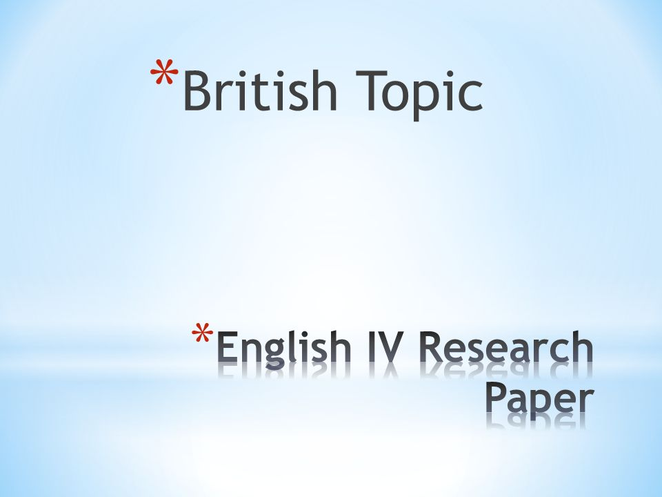 british literature research paper topics