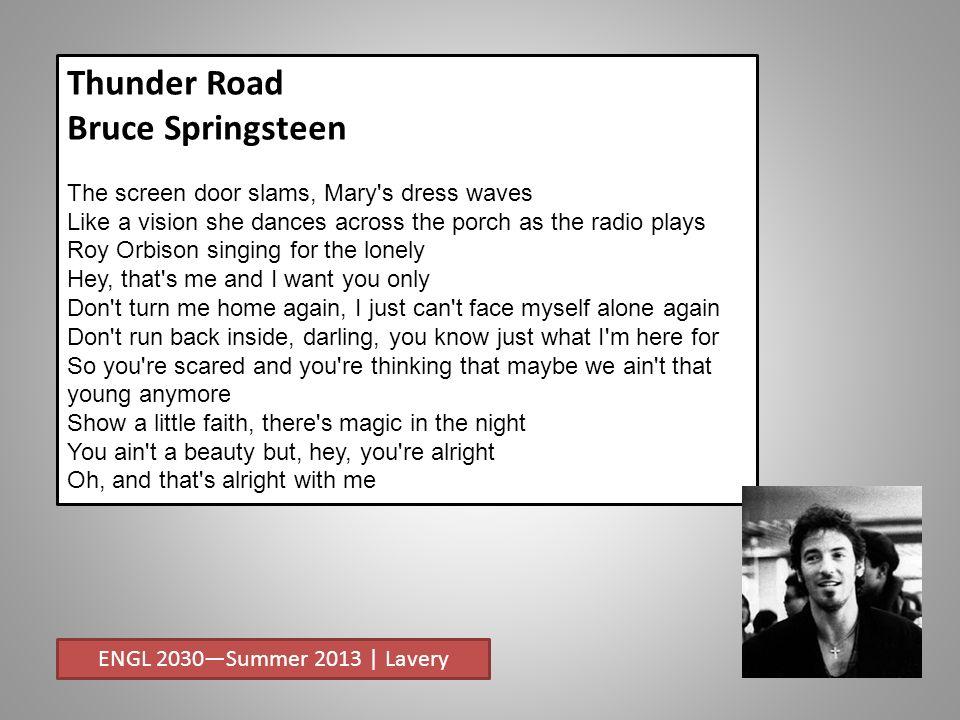 Bruce Springsteen Screen Door Slams - womenofpower.info