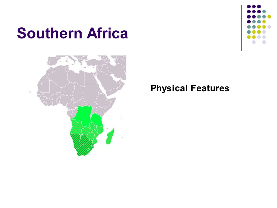 Southern Africa Physical Features