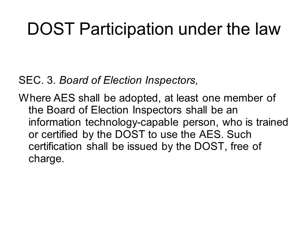 Dost and ra 9369 or the automated election law background on 3 dost participation 1betcityfo Gallery