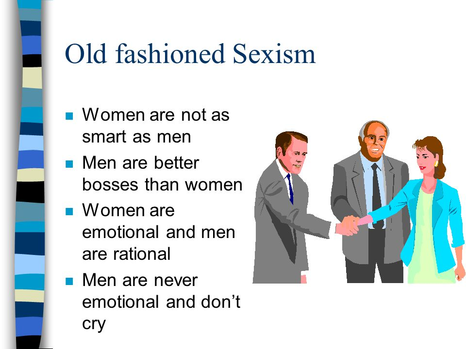 sexism traditional gender role Attitudes toward women were examined in relation to the 2016 presidential election traditional gender role role of hostile sexism and traditional.