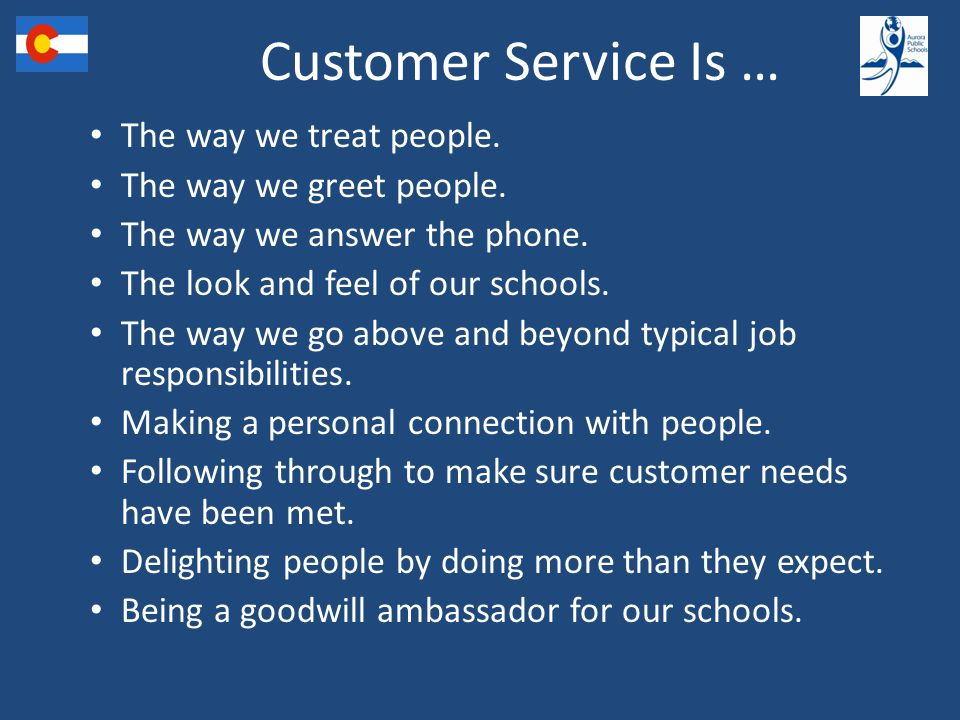 Aurora public schools keys to good customer service ppt download customer service is the way we treat people the way we greet people m4hsunfo