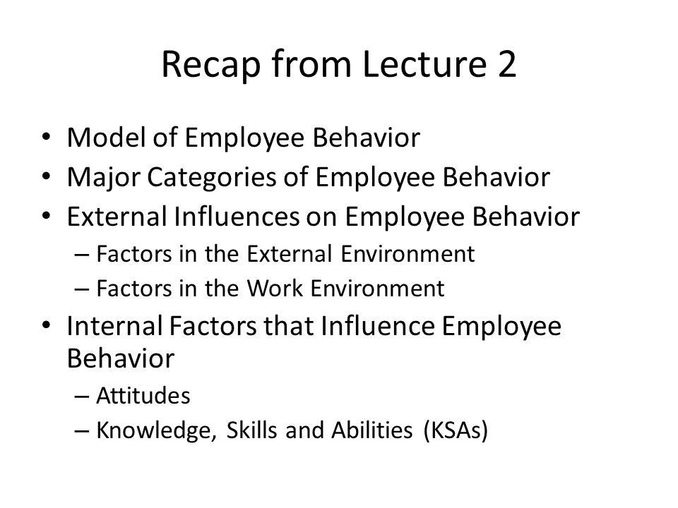 internal and external influences on organizational behavior