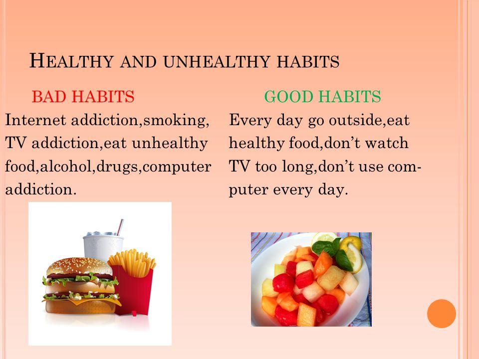 Resultado de imagen de unhealthy habits