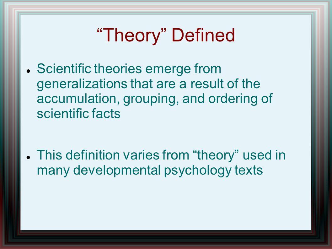 High Quality 3 U201cTheoryu201d Defined Scientific Theories Emerge ...