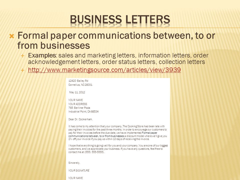 408 Write Internal And External Business Correspondence To Convey