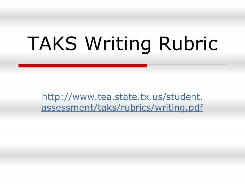 persuassive essay rubric