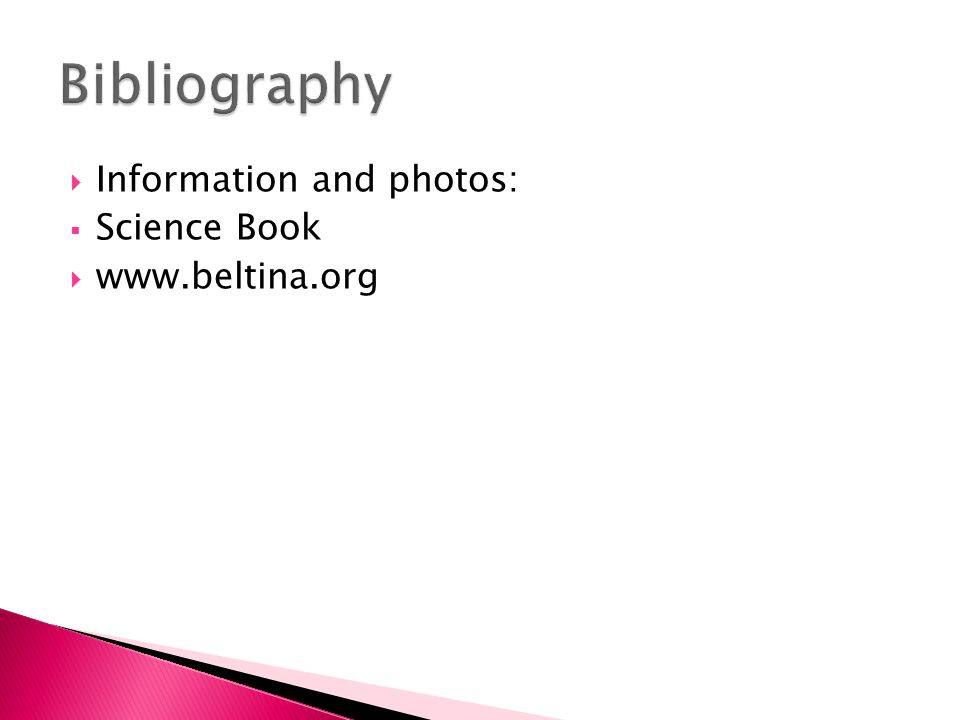  Information and photos:  Science Book 