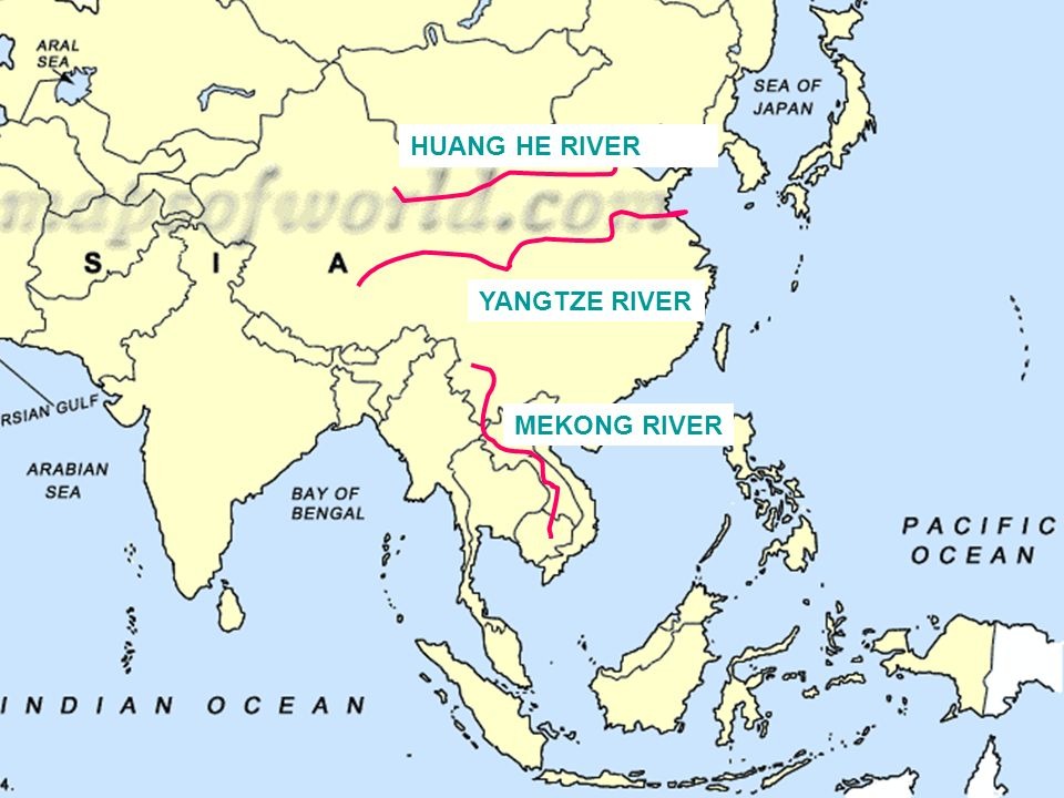 EAST ASIA MAP REVIEW LETS START WITH THE WATER AROUND ASIA ppt