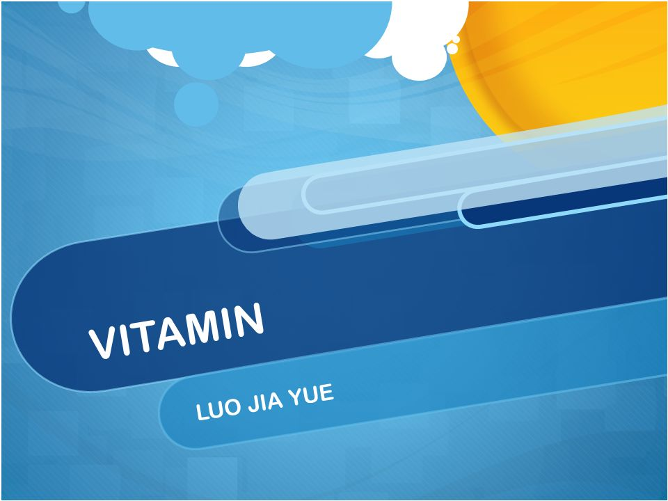 presentation on theme vitamin luo jia yue what is vitamin a vitamin is an organic compound required as a vital nutrient in tiny amounts by an organis m