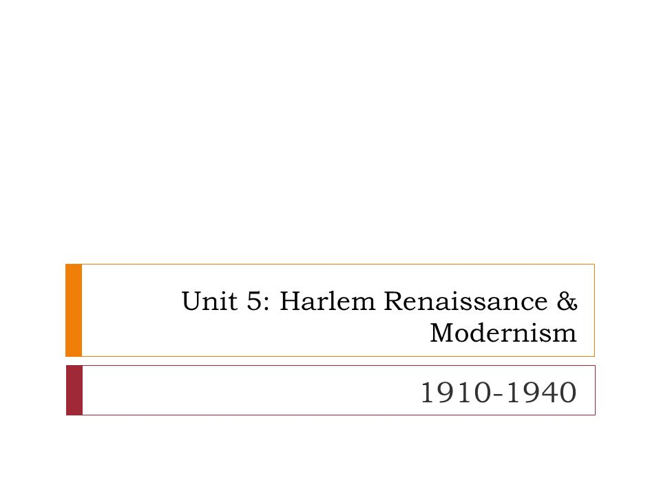 aspects of the harlem renaissance essay